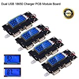 diy wireless charging module - 4pcs Dual USB 5V 1A 2.1A Mobile Power Bank 18650 Battery Charger PCB Module Board with Protection DIY USB Power Bank Board