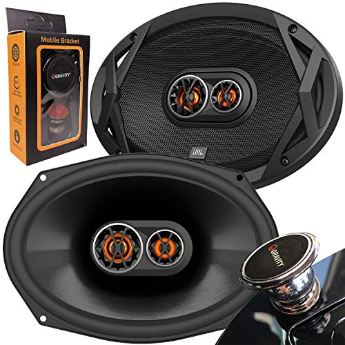 JBL Club 9630 480 Watts 6×9 Club Series 3-Way Coaxial Car Speakers with Gravity Magnet Phone Holder Bundle