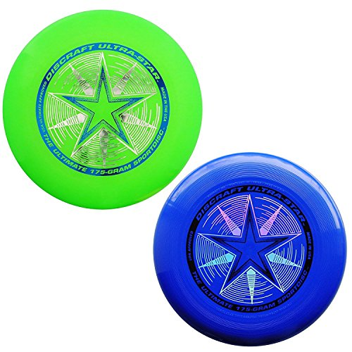Discraft 175 gram Ultra Star Sport Disc - 2 Pack (Blue & Green)