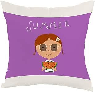 summer season Printed Pillow, Fabric Canvas 40X40 cm