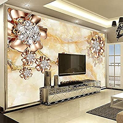3d Wallpaper Marble Diamond Jewelry Flowers European Style Photo Images, Photos, Reviews