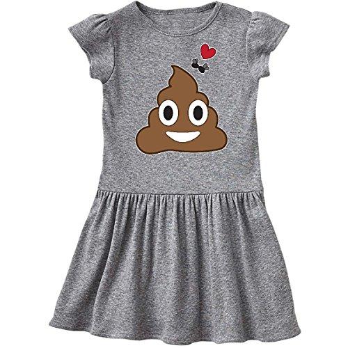 inktastic - Valentine's Day Love Poop Emoji Toddler Dress 4T Heather Grey 28b05