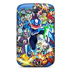 Shockproof Hard Phone Covers For Samsung Galaxy S3 (XTx8419pvTm) Allow Personal Design Attractive Megaman Pattern