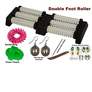 Amazon.com: Acupressure Double Foot Massager with Spiked ...