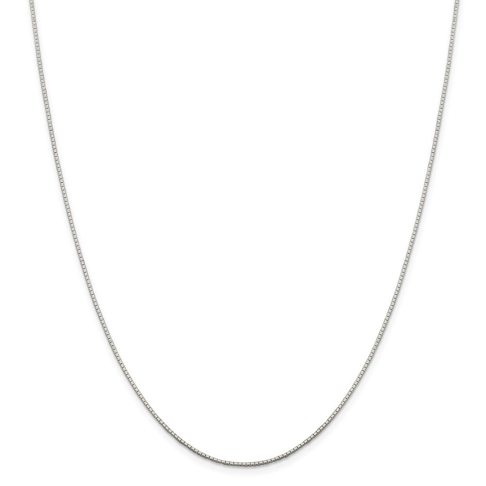 Solid 925 Sterling Silver .9mm 8 Sided Diamond-Cut Mirror Box Chain Necklace