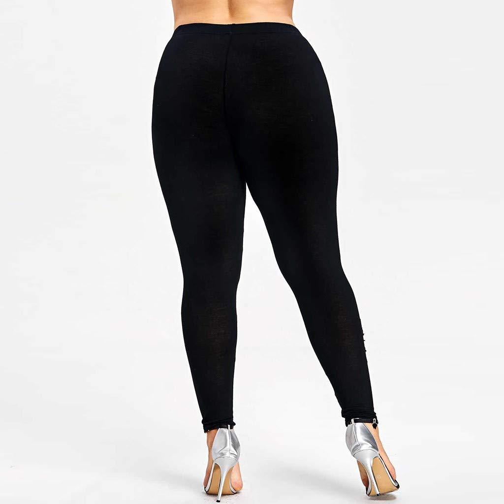 VPASS Mujer Pantalones,Talla Grande Impresión Elásticos Pantalones de Yoga Mujer Fitness Mallas Gym Yoga Slim Fit Pantalones Largos Pantalones ...