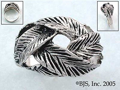 Woven Leaf Ring (Elven Woven Forest Leaf Ring in Sterling Silver)