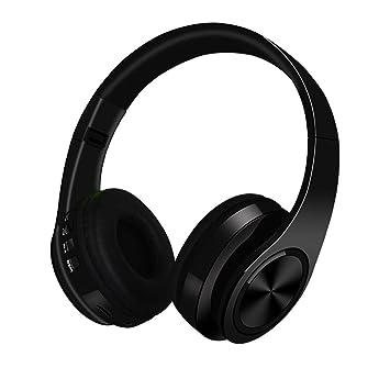 Auriculares bluetooth, auriculares inalámbricos estéreo inalámbricos/con cable de alta fidelidad con ranura para tarjeta SD,Black: Amazon.es: Oficina y ...