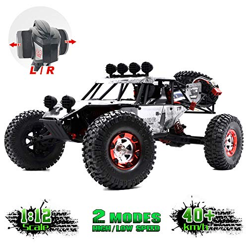 KELIWOW Electric RC Buggy 1/12 Remote Control Car 2.4Ghz 4WD Desert Off-Road Truck 40KM/h High Speed All Terrain RC Rock Crawler Monster Car for Adults