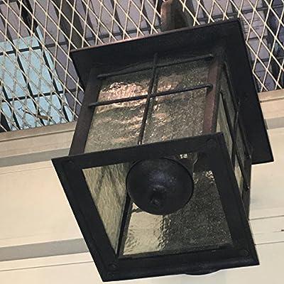 Brimfield 3-Light Outdoor Aged Iron Wall Lantern