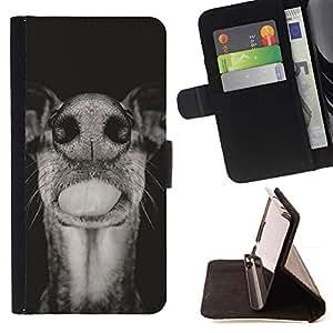 Momo Phone Case / Flip Funda de Cuero Case Cover - Ganado Negro Blanco Bozal; - Samsung Galaxy Note 3 III