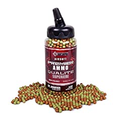 This 2,000-count container of camo plastic 6-millimeter BBs comes in a convenient feeder bottle for easy loading. The 0.24 caliber BBs are perfect for indoor and outdoor target shooting as well as tactical gaming.This 2,000-count container of...