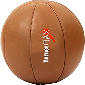 Medicine Ball, Leather, Natural, 2kg