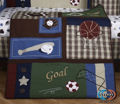 GEENNY 13 Piece Crib Bedding Set, Classic Sports