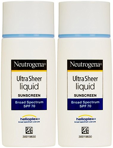 Neutrogena Ultra Sheer Liquid Sunscreen – SPF 70, 1.4 Ounce Pack of 2