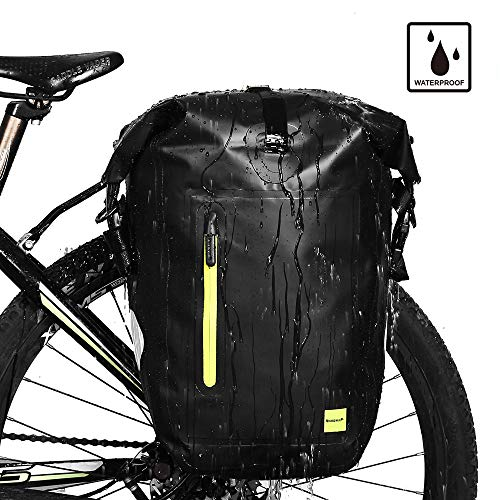 Rhinowalk Bike Bag Waterproof Bike Pannier Bag 25L,(for Bicycle Cargo Rack Saddle Bag Shoulder Bag Laptop Pannier Rack Bicycle Bag Professional Cycling Accessories) ()