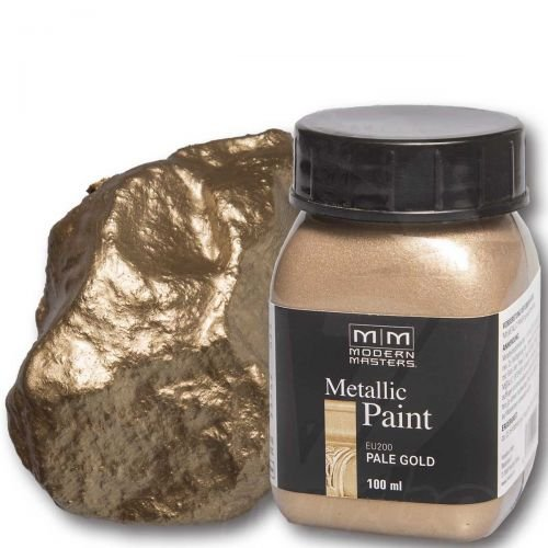 Pale Gold Metallic Paint 100  ml Modern Masters metal efecto Color Metal Color