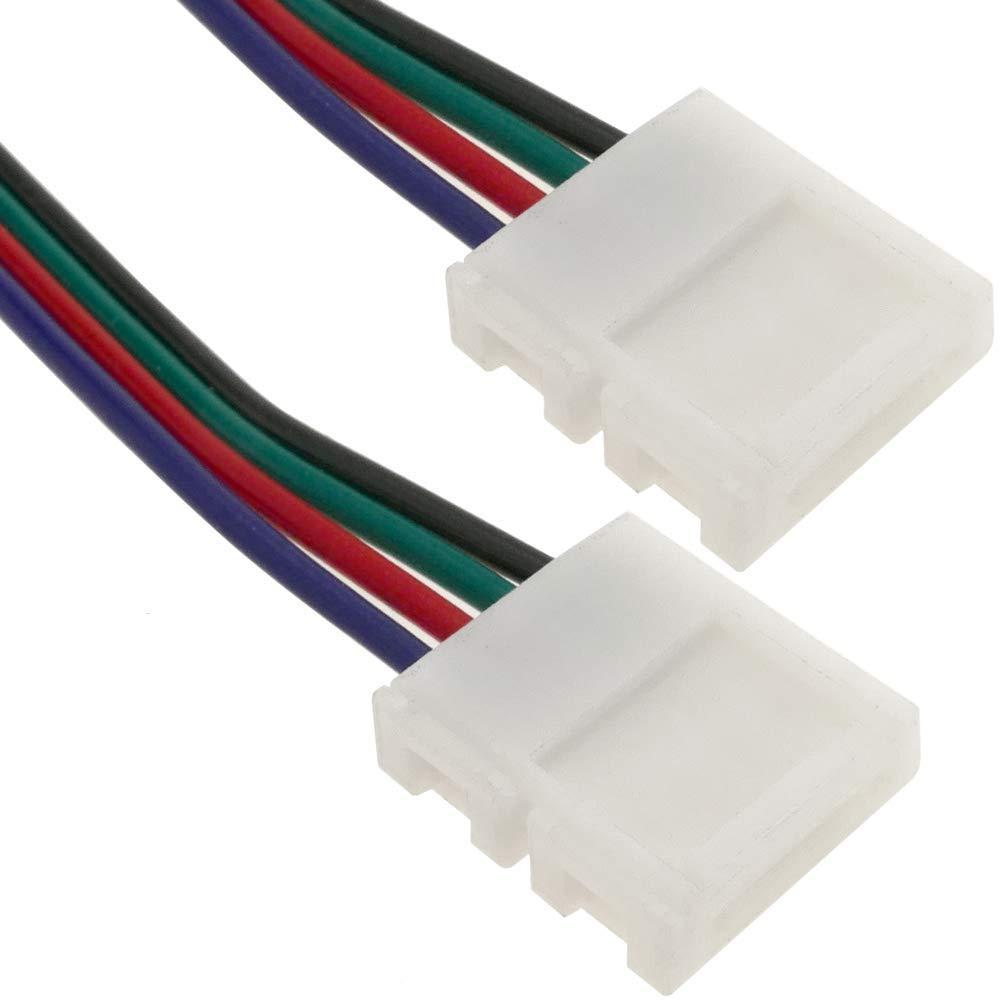 BeMatik - Empalme a presión con cable para tira de LED RGB 10mm: Amazon.es: Electrónica