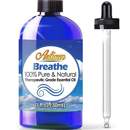 Artizen Breathe Blend Essential Oil (100% PURE & NATURAL - UNDILUTED) Therapeutic Grade - Huge 1oz Bottle - Perfect for Cold, Flu, Cough, Allergy, Congestion, and Sinus Relief (Home Remedies For Chest Infection In Children)