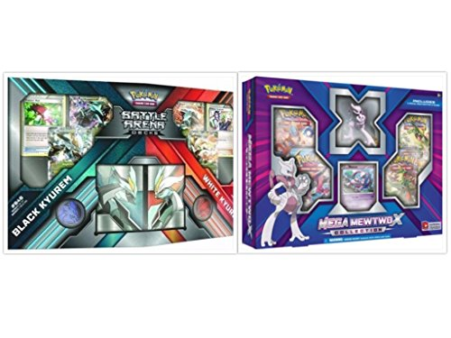 Pokemon Black Kyurem vs White Kyurem Battle Decks and Mega Mewtwo X Collection Box Bundle, 1 of Each (Pokemon X And Y Vs Sun And Moon)