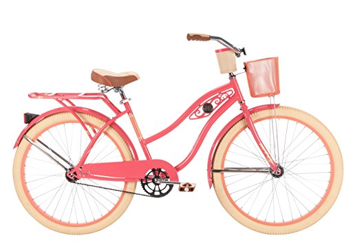 Huffy Bicycles 26657 Ladies Deluxe Cruiser Bicycle, Coral Radiance, 26-In.