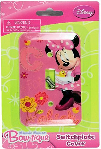 Disney Mickey Mouse Switch Plate Cover (Minnie Mouse)