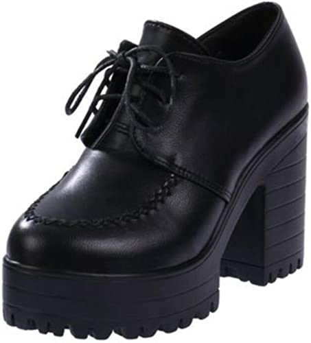 Womens Girls Lolita Low Top Japanese Students Maid Uniform Dress Shoes  Oxford Shoes Uniform Dress Shoes