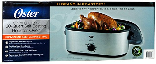 Oster Stainless Steel 20-Quart Self-Basting Roaster Oven by Oster