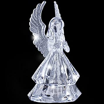New Colour Changing Led Angel Home Ornament Light Up Christmas ...