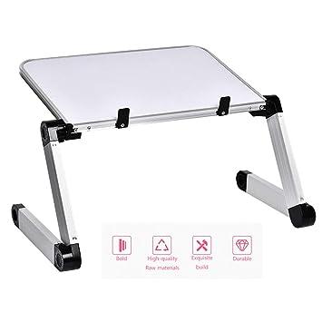 JVCZ Mesa de aleación de Aluminio, Ultraligera, portátil, Plegable ...