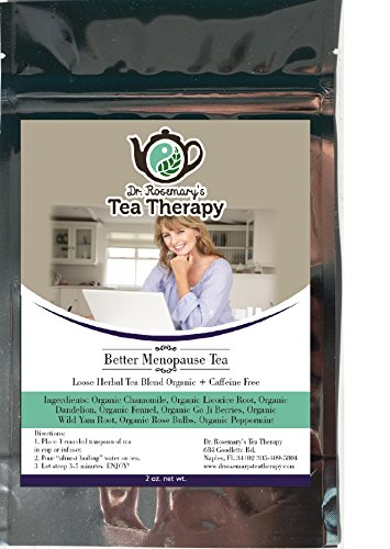 Better Menopause Tea - Organic Caffeine Free Loose Herbal Tea with Chamomile & Peppermint - Naturally Gluten Free - by Dr. Rosemary's Tea Therapy Helps Fight Menopausal Symptoms