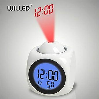 Reloj despertador Luz nocturna con lámpara de proyector ...