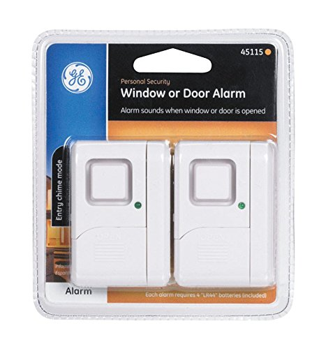 GE Jasco 45115 Wireless Battery Operated Magnetic Window Alarm 2 Count by GE