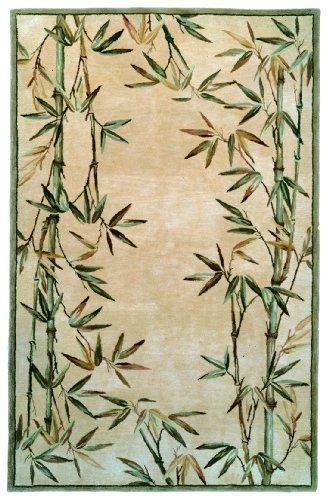 Kas Rugs 3146 Sparta Bamboo Border Runner, 2-Feet 6-Inch by 10-Feet, Ivory