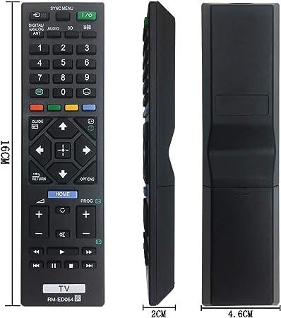 MYHGRC Nuevo Control Remoto de reemplazo de TV RM-ED054 para ...