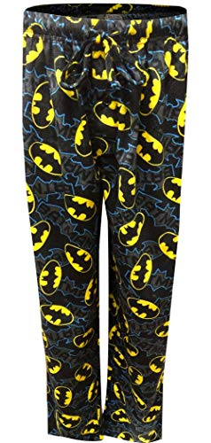 DC Comics Men's Batman Lounge Pants, Black, L