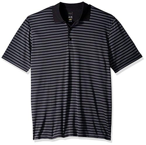 Greg Pants Microfiber Norman - PGA Greg Norman Adult Men Protek Microlux Stripe Polo,XL,black