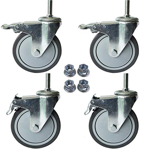 5 Inch Total Lock Caster - 1/2