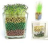 Naul Green Garden Decor Ceramics Balls,Colorful Flower Pots Decor,Planters Decor Balls,Mixed Color 1kg per pack