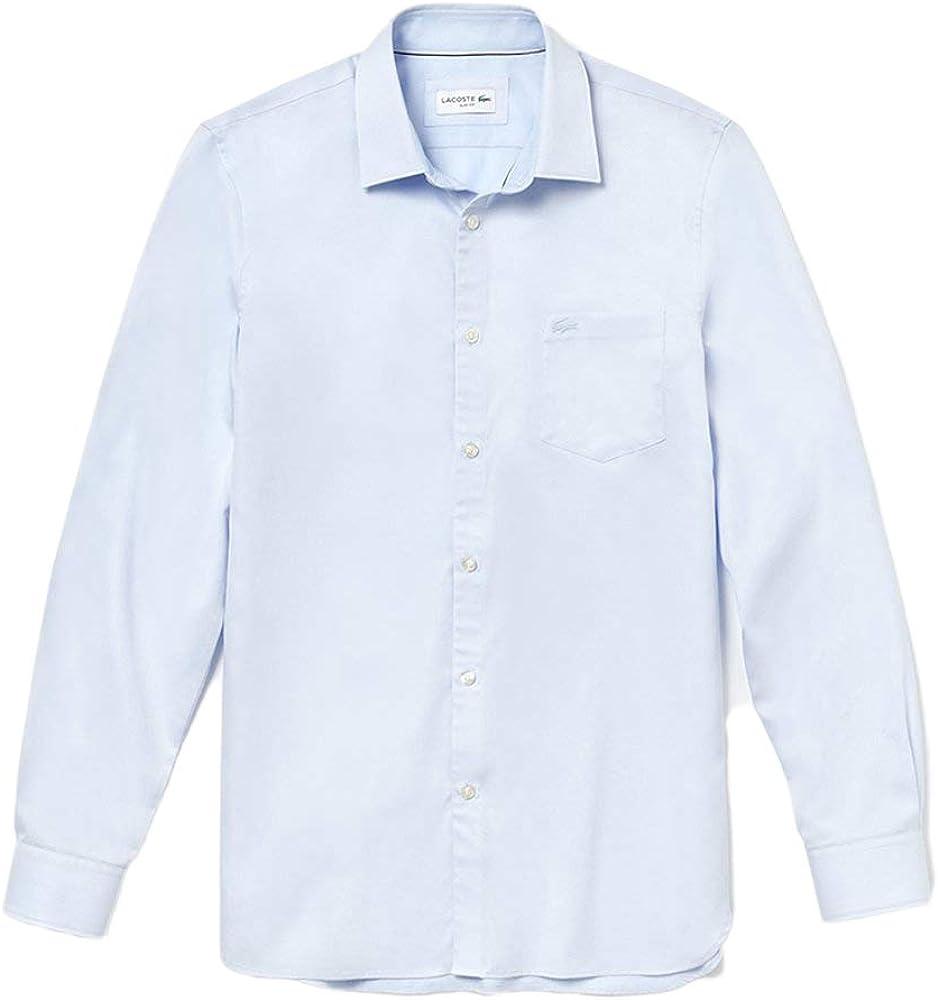 Lacoste Camisa m/l Hombre Camisas, Hombre, azul celeste, 41 ...