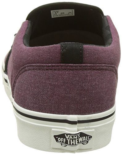 Vans Herren MN Asher Sneakers Rot (Washed Canvas Port)