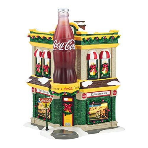 - Department 56 Snow Village Coca-Cola Corner Fountain Lit House, 8.27 inch