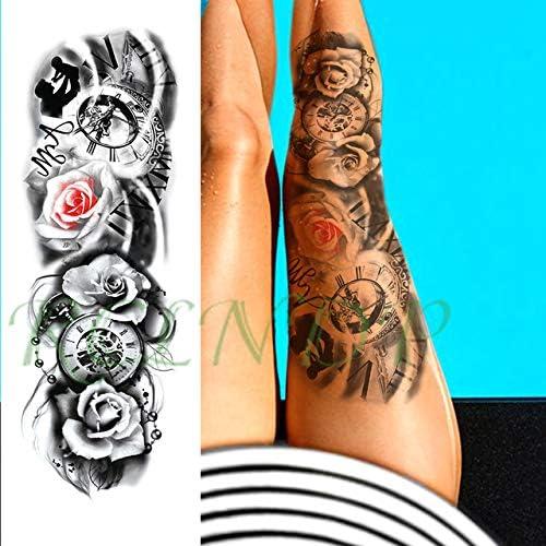 ljmljm 3 Piezas Tatuaje Impermeable Etiqueta engomada del Florista ...