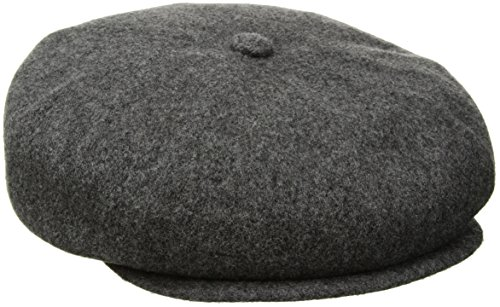 Flannel Newsboy (Kangol Men's Wool Hawker Cap, Flannel, M)