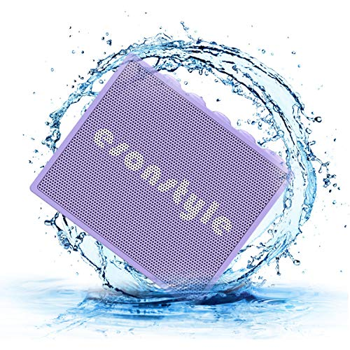 New Esonstyle Waterproof IPX6 Portable Bluetooth Speaker 5W Drive Built-in Mircophone for iPhone iPo...