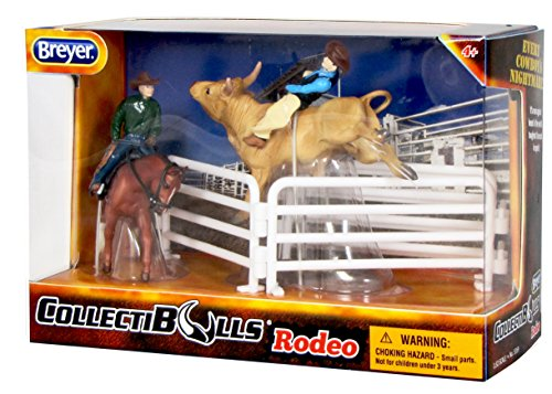 Breyer Collectibulls Rodeo Cowboy Playset