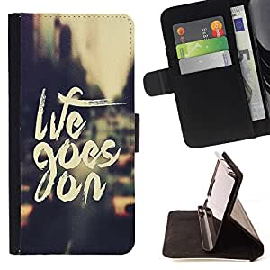 DEVIL CASE - FOR Samsung Galaxy S3 Mini I8190Samsung Galaxy S3 Mini I8190 - Life Goes On - Style PU Leather Case Wallet Flip Stand Flap Closure Cover