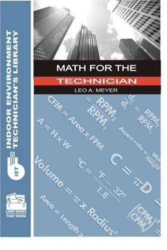Math for the Technician (Indoor Environment Technician's Library) pdf