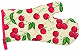 Kitchen Style by Now Designs Basic Mitts, Cherries, Set of 2