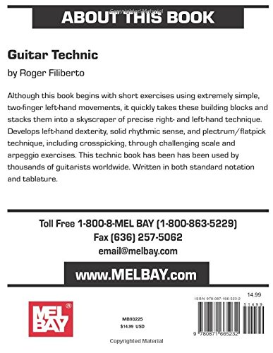 Mel Bay Guitar Technic Roger Filiberto 0796279000413 Amazon